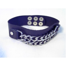 "1-1/4"" Wide Arm Band with Curb Chain"