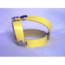 3-Way Cock Strap With Ball Separator Yellow