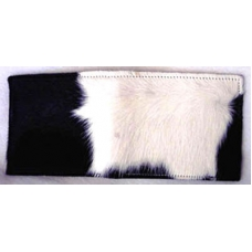 Hair-On Black & White Hide Wallet