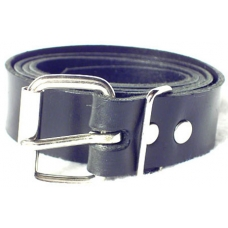 1-1/2 Inch Wide Black Plain Leather Belt