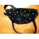 Black Soft Leather Purse With Domes
