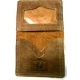 Soft Rustic Brown Leather ID Wallet