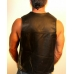 Leather Vest with Tuxedo Front Corner Cut