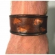 "1-1/2"" Wide Leather Wrist Band With Footprints"